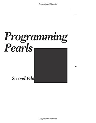 Programming pearls 2nd edition jon bentley 0785342657883 amazon programming pearls 2nd edition 2nd edition fandeluxe Images