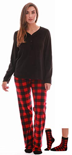 Just Love Henley Pants Set with Socks for Women 6732-10195-L (Wife Christmas Jammies)