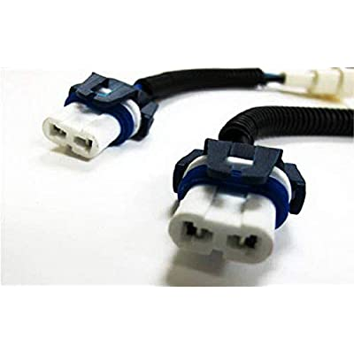 iJDMTOY 9006 HB4 Heavy Duty Ceramic Wiring Harness Sockets Compatible With Headlights or Fog Lights: Automotive