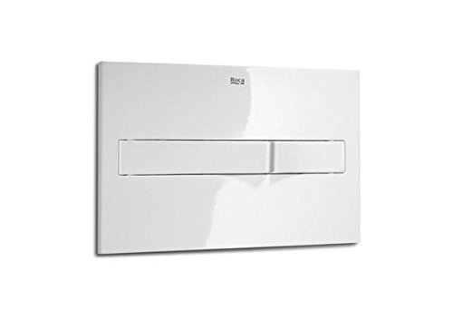 White Roca PL2 Dual bright chrome plate for toilet cistern System Pro.