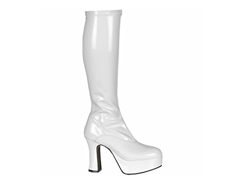 Keytrading co - Botas para mujer blanco White Patent 7 UK
