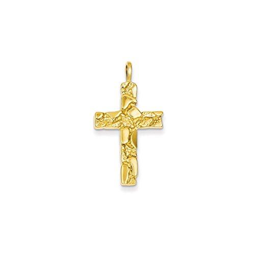 Roy Rose Jewelry 14K Yellow Gold Nugget Cross Pendant -