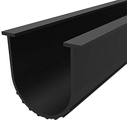 Bowsen 12ft Garage Door Bottom Weather Seal Buffering Rubber Weather Stripping Made Of Epdm Rubber U Shape 5 16inch T End