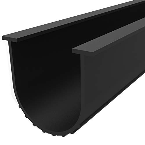 BOWSEN 12FT Garage Door Bottom Weather Seal Buffering Rubber Weather Stripping, Made of EPDM Rubber U Shape, 5/16inch T-end