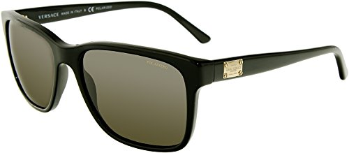 Versace Mens Sunglasses (VE4249) Black/Grey Acetate - Polarized - - Shades Versace Mens