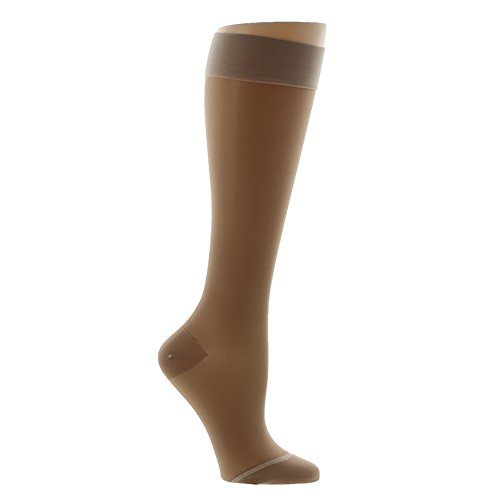 9fec4a8431 Ames Walker Women's AW Style 16 Sheer Support Closed Toe Compression Knee  High Stockings - 15-20 mmHg Nude Large 16-L-NUDE Nylon/Spandex