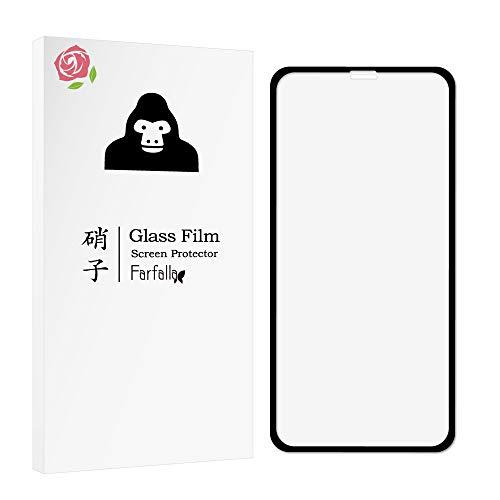 松慈善勘違いする【全面保護ガラスフィルム】iPhone XS/iPhone X ハイブリッドケース付き CORNING GORILLA GLASS 5使用 オイルコーティング Farfalla