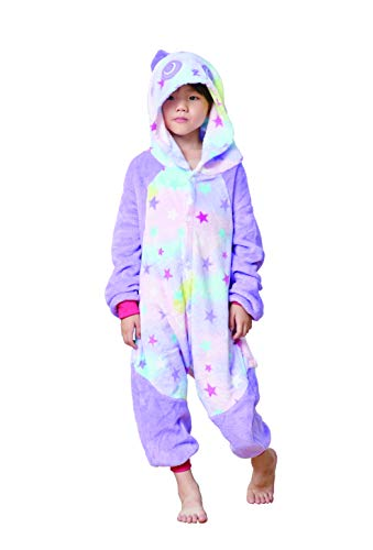 Comfy New Panda Star Unicorn Cosplay Costume Animal Pajamas One Piece Birthday Gift 6-8 -