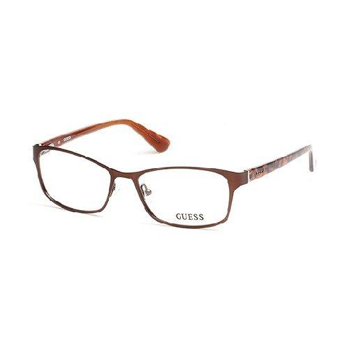 GUESS Eyeglasses GU2521 049 Matte Dark Brown 53MM