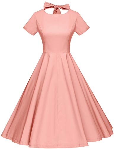 GownTown Womens 1950s Vintage Retro Party Swing Dress Rockabillty Stretchy Dress