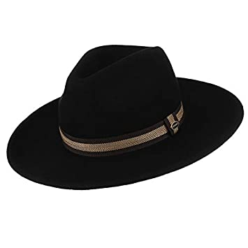 SADUZI Sombrero de Fieltro de ala Ancha para Hombres con Gorro de ...