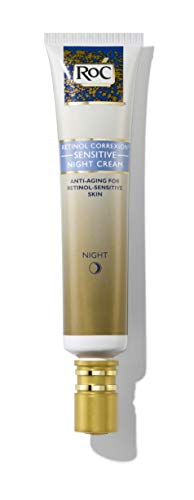 RoC Retinol Correxion Anti-Aging Sensitive Skin Wrinkle Night Cream, Made with Milder Strength Retinol and Hyaluronic Acid, 1 Fl Oz