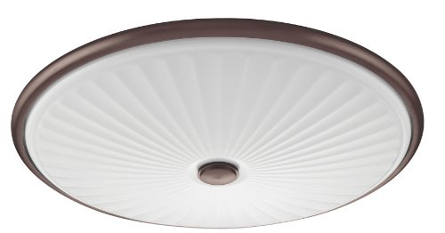 - Lithonia Lighting FMDCGL 16 20830 BZ M4  17-Inch 3000K LED Cut Glass Flush Mount with Patterned Acrylic Diffuser, Bronze