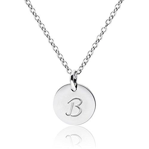 Three Keys Jewelry Silver Tone Initial Necklace 0.63
