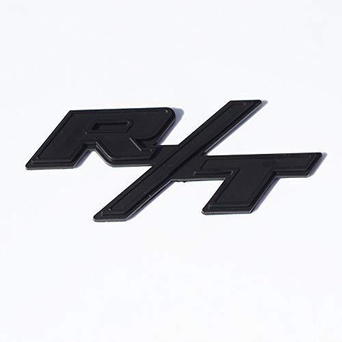 Btopars All Black R/T RT Side Fender Trunk Hatch Emblem Badge Sticker for Dodge Challenger Charger Ram Avenge