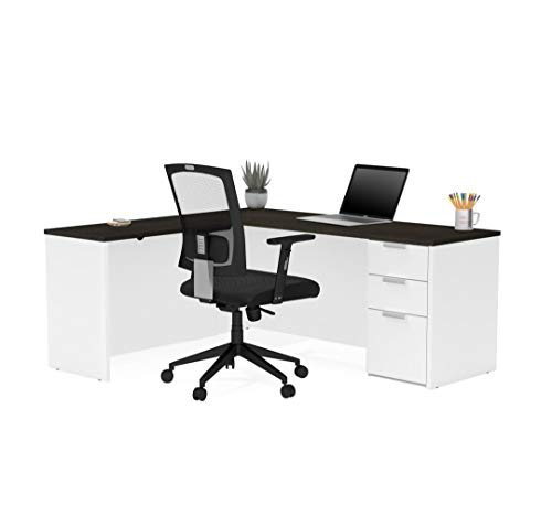 Bestar L-Shaped Desk with Pedestal - Pro-Concept Plus
