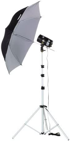 Light Stand /& Umbrella. Smith Victor FL160 Monolight Lighting Kit with One 100 watt second Flash