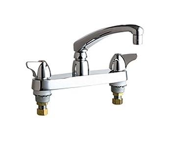 Chicago Faucets 1100 ABCP 8 Inch Centerset Deck Mount Kitchen Faucet, Chrome