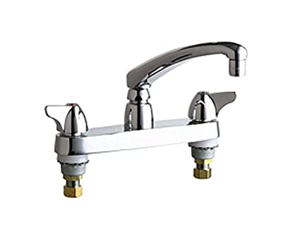chicago faucets 1100 abcp 8 inch centerset deck mount kitchen faucet rh amazon com chicago kitchen faucet parts chicago faucet commercial kitchen