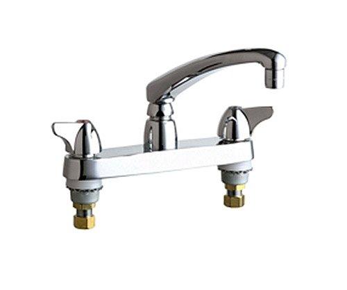 Chicago Faucets 1100-ABCP 8-Inch Centerset Deck Mount Kitchen Faucet, Chrome