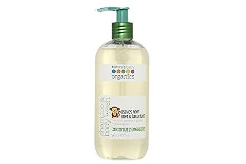 Nature's Baby Organics Shampoo & Body Wash, Coconut Pineapple, 16 oz. |Babies, Kids, & Adults! Natural, Moisturizing, Soft, Gentle, Rich, Hypoallergenic | No Chemicals, Parabens, SLS, (Organics Coconut Conditioner)