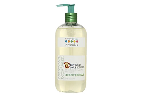 Nature's Baby Organics Shampoo & Body Wash, Coconut Pineapple, Cruelty Free, Gentle on Skin, 16 oz
