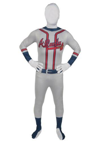Atlanta Braves Skin Suit Kids Costume - Child Medium (Atlanta Braves Skin Suit Kids Costume)