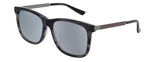 Gucci GG0078SK Fashion Sunglasses, 56mm (Havana/Ruthenium, Silver) - Gucci Shades For Men