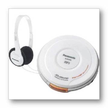 Panasonic SL-SX480W Portable CD Player, White