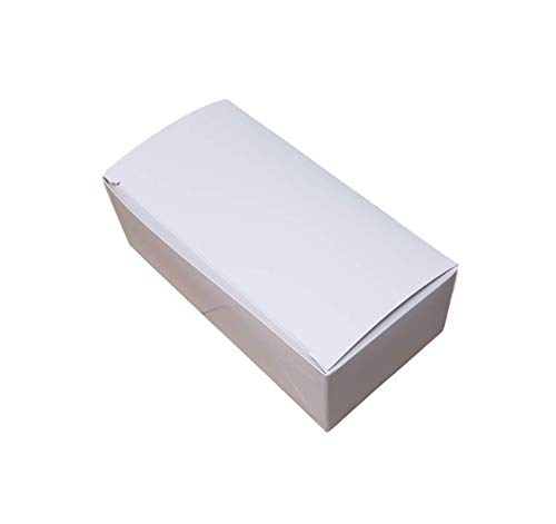 (MT Products 5 1/2 x 2 3/4 x 1 3/4 White Paper 1/2 LB Candy and Chocolate Gift/Party Favor Box (20 Pieces))