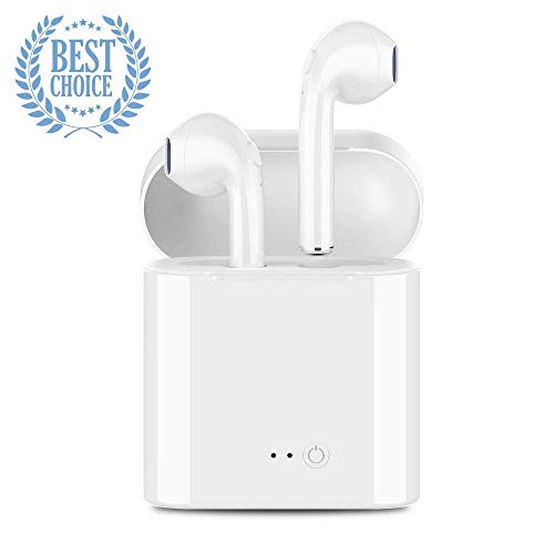 Wireless Bluetooth 4.2 Headphones,Wireless Earbuds Earphones in-Ear Earbuds Stereo Headset with Microphone IPX5 Anti-Sweat Sports Earbuds,Earphones Compatible with Apple Airpods Android Samsung iPhone