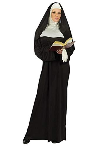 FunWorld Mother Superior Nun, Black, One Size (Standard) ()