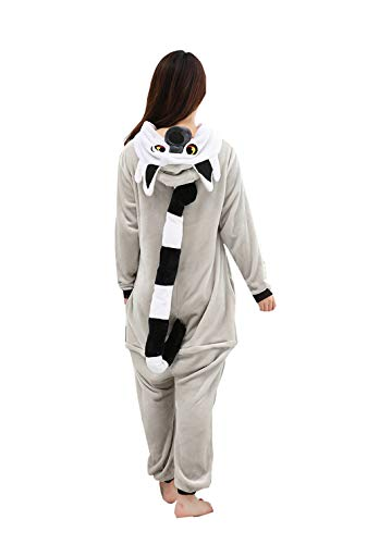 IINFINE Adult Anime Unisex Pyjamas Halloween Onesie Costume(Gray-XL) for $<!--$39.99-->