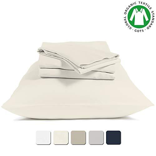 Twin, Light Grey BIOWEAVES 100/% Organic Cotton 1 Flat Sheet Only 300 Thread Count Soft Sateen Weave GOTS Certified Top Sheet