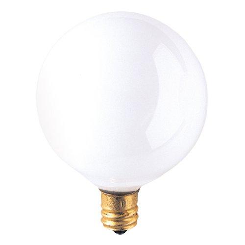 Bulbrite 391015 - 50PK - 15W - G16.5 - Candelabra Base - 120V - 2500K - 2,500Hrs - White - Incandescent Globe Light