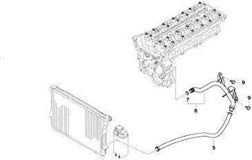 BMW Genuine Cooling System Water Return Hose//Pipe E46 11531436410