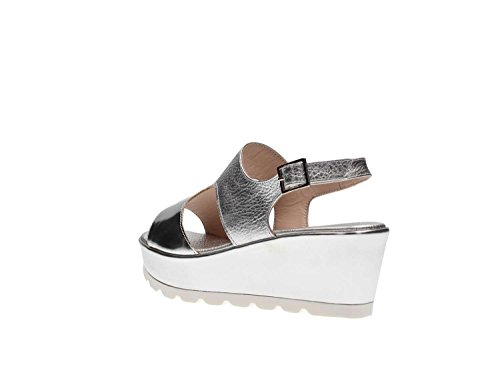 Martina B. 0476sole Wedge Sandals Women Silver ubonxWyyuI