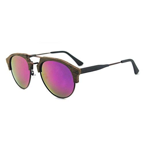 viaje de aire sol C90 gafas polarizadas Zhangxin sol grano azul C99 al hombres ocio Gafas madera película de libre de los verde de waf0qqXxF