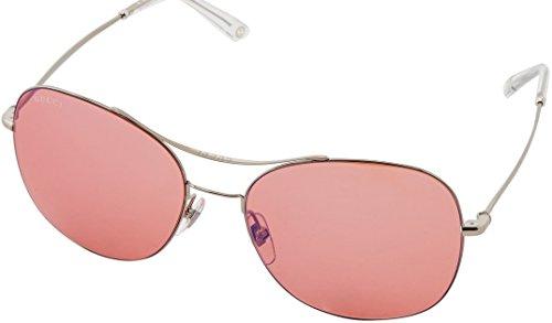 (Gucci Sunglasses - 4253 / Frame: Palladium Lens: Pink Mirror Blue-GG4253S0010)