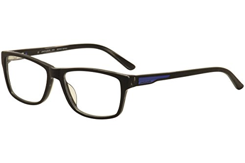 Jaguar Men's Eyeglasses 31504 6472 Black Wood/Blue Full Rim Optical Frames - Jaguar Eyeglass Frames