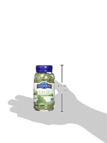 Litehouse Farms Freeze-Dried Sage (Pack of 4) .31 oz Jars