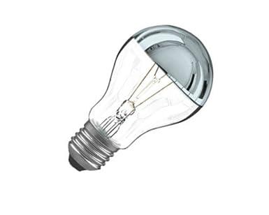 Ampoule calotte argentée E27 60W: Amazon.fr: Luminaires et Eclairage