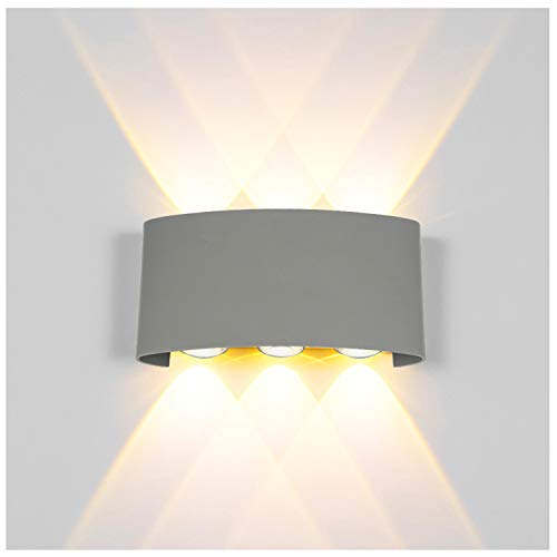 Modern led Wall Lights 12W led Wall Sconce Lighting up and Down Wall Lighting Waterproof Wall lamp Outdoor Wall Light Fixture Security Light for Area Lighting, Garage Exterior, Staircase, - Wall Mount Outdoor Arc