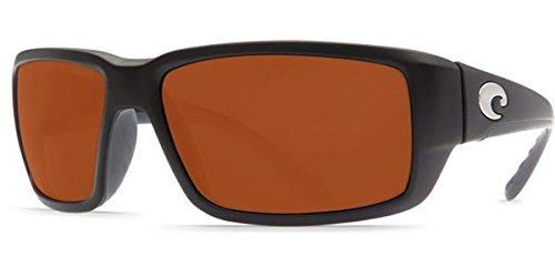 Costa Del Mar Fantail Sunglass, Matte Black/Silver Mirror 580Glass