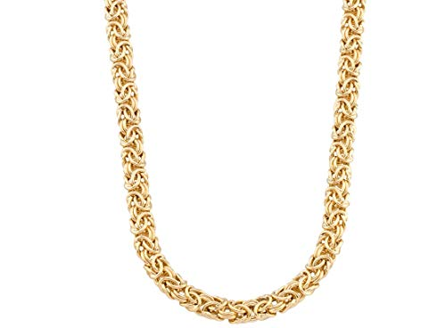 MiaBella 18K Yellow Gold Plated Sterling Silver Byzantine Chain Necklace for Women 16, 18, 20 Inch 925 Italy (18)