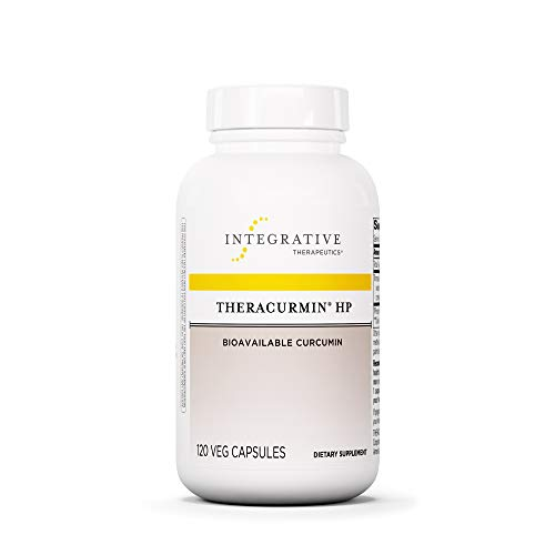 Symptoms 60 Tablets - Integrative Therapeutics - Theracurmin HP - Turmeric, Curcumin Supplement - 27x More Bioavailable - High Absorption Turmeric* - Vegan - 120 Capsules