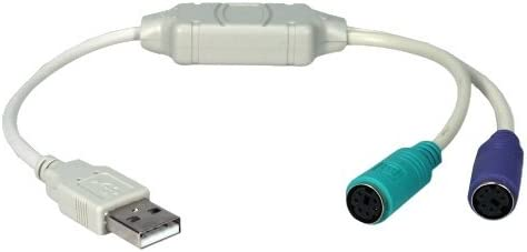 Belkin Usb To Ps//2 Cable Adapter 1 Pack 1 X Type A Male Usb Dark Gray Ps//2 Female Keyboard//Mouse 2 X Mini-Din