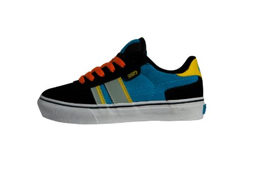 DVS Shoes Kids Milan2 CT DVF0000103 - Zapatillas de skate de ante para niño Negro (BLACK BLUE ORANGE SUEDE 001)