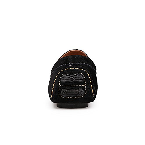 Abby 8005 Mens Comode Mocassini Neri Alla Moda Casual Eminente Slip-on Mocassini Driving Sneakers Nere