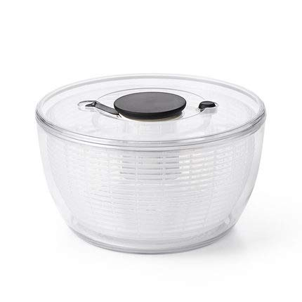 Salad Spinner, Vegetable or Lettuce Dryer, Simple Easy and Safe to Use, Non-Toxic, Safe Reliable for Holding Food, Freshly Washed Lettuce, Spinach, Cabbage by DQM